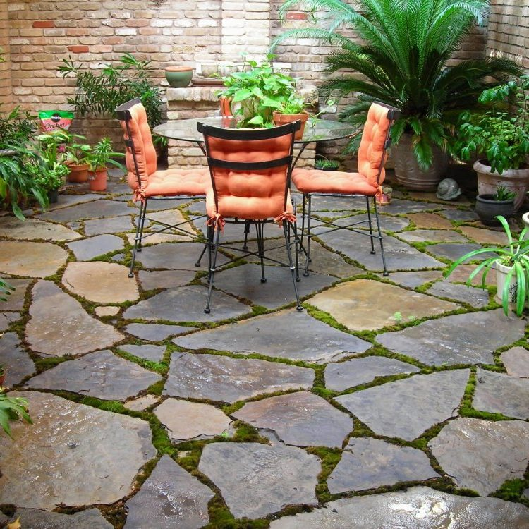 tropical stone patio