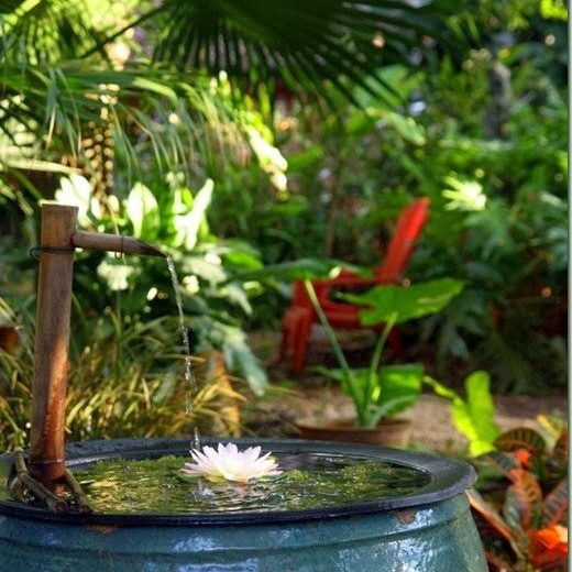 tropical zen bubbler fountain